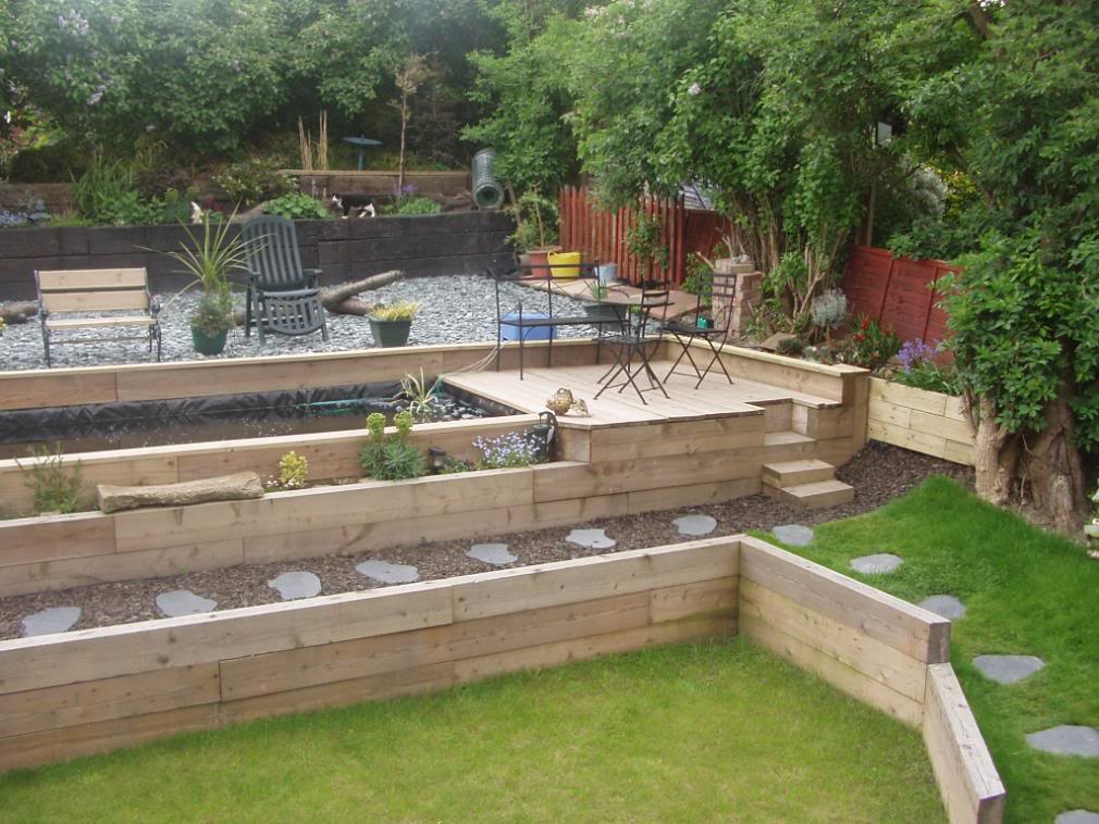 Garden design ideas railway sleepers | Hawk Haven on soil garden, pine garden, rocks garden, roofing garden, plants garden, stone garden, compost garden,