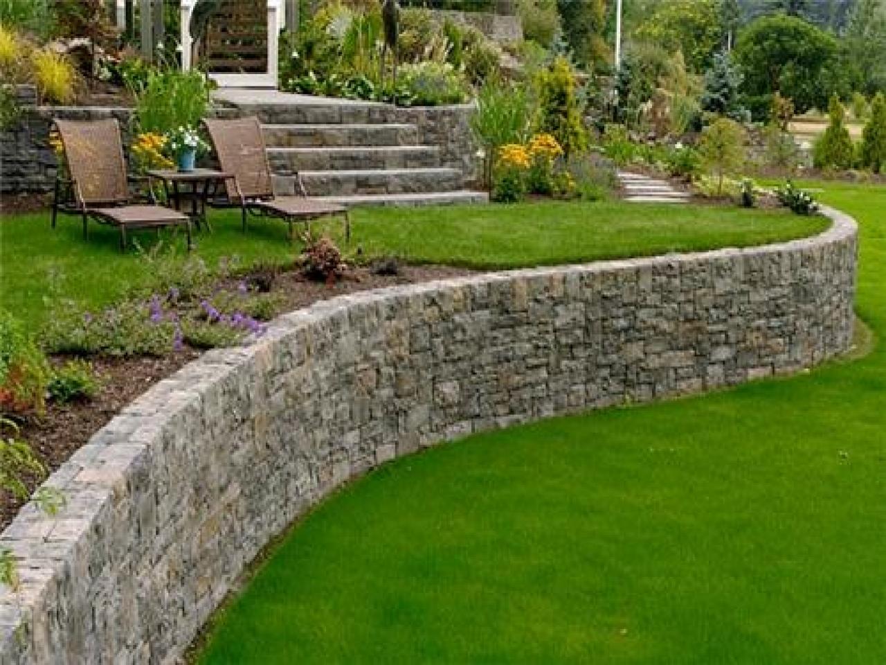 garden design ideas retaining walls photo - 1