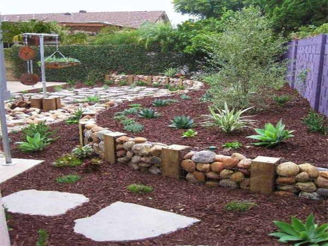garden design ideas retaining walls photo - 6