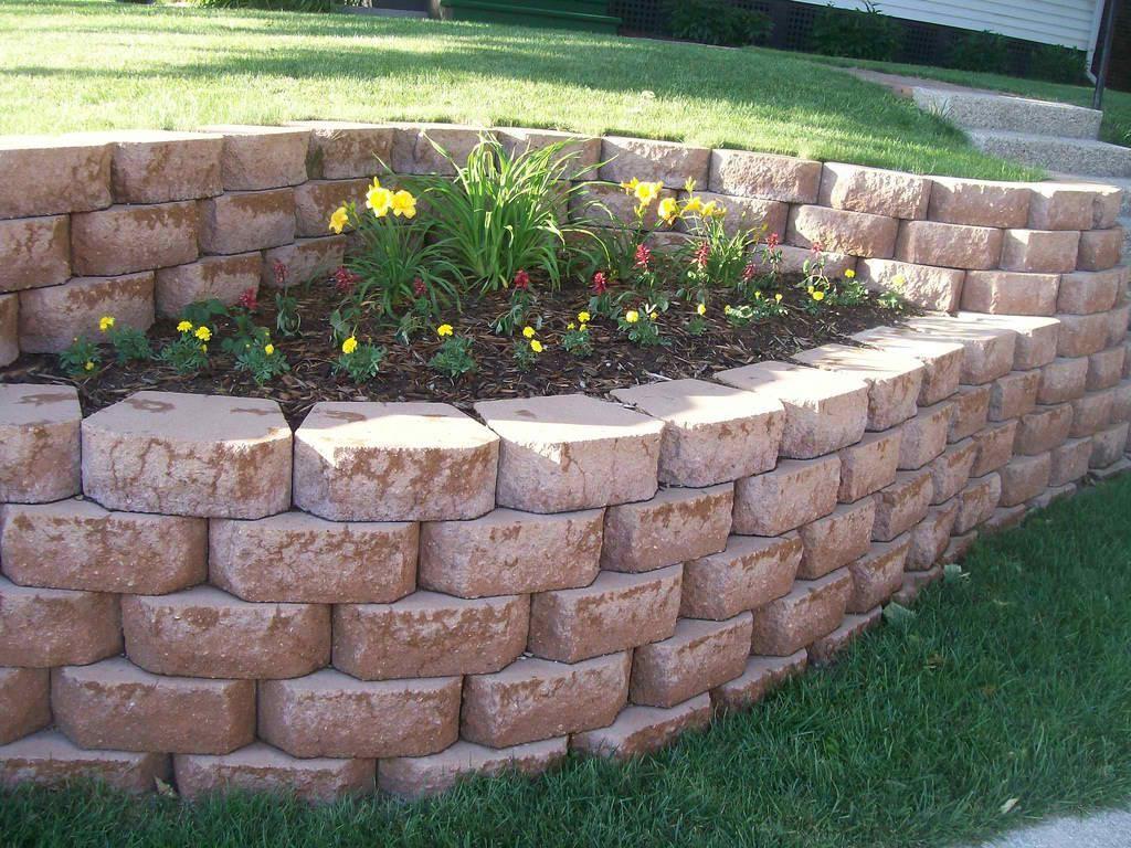 garden design ideas retaining walls photo - 7