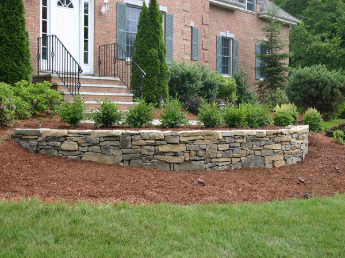 garden design ideas retaining walls photo - 8