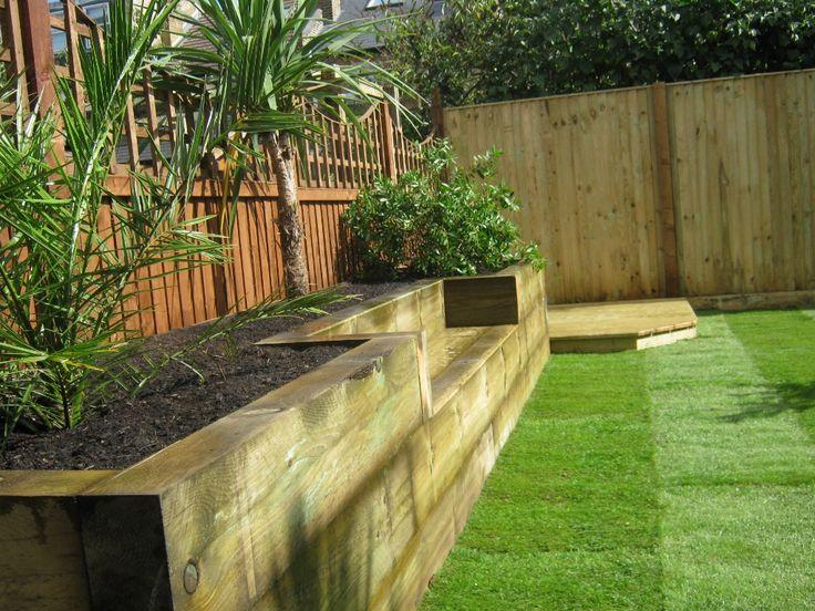 Garden design ideas sleepers   Hawk Haven