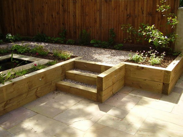 Garden design ideas sleepers | Hawk Haven