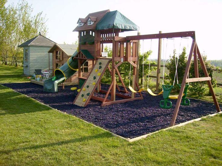 garden design ideas with childrenメs play area photo - 5