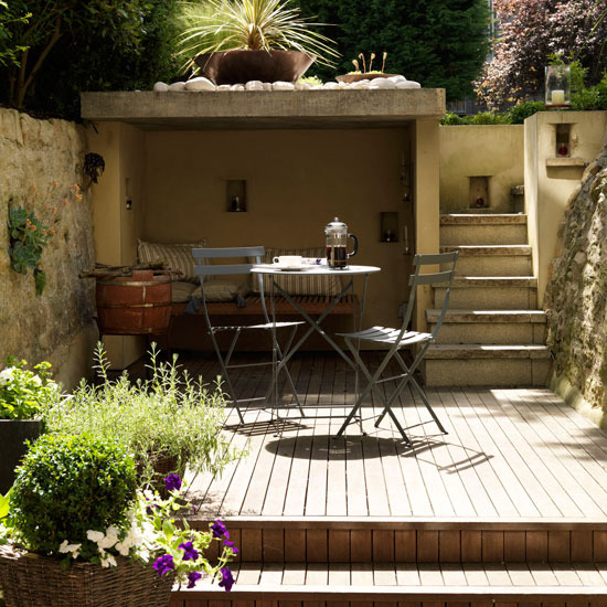 garden design ideas with decking photo - 1