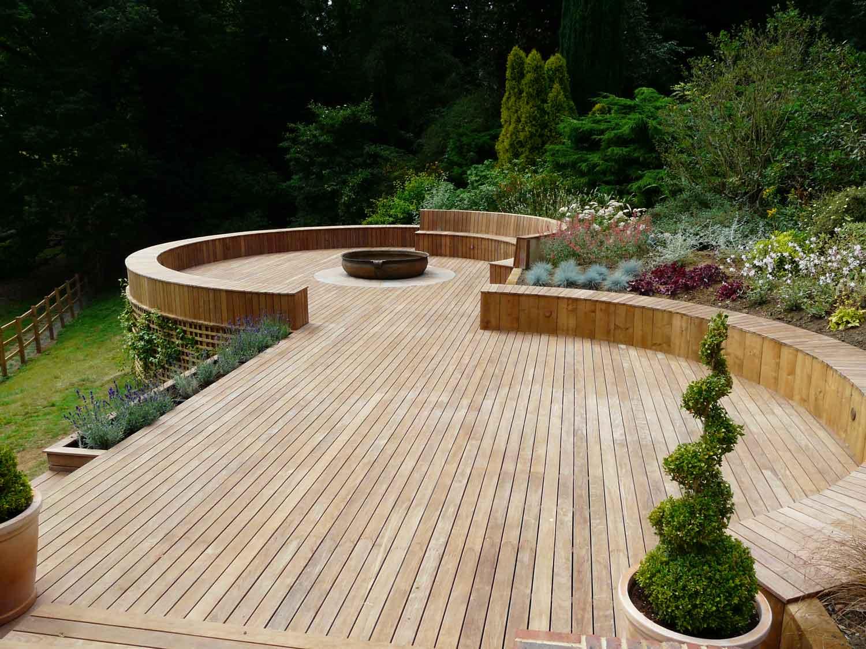 garden design ideas with decking photo - 4
