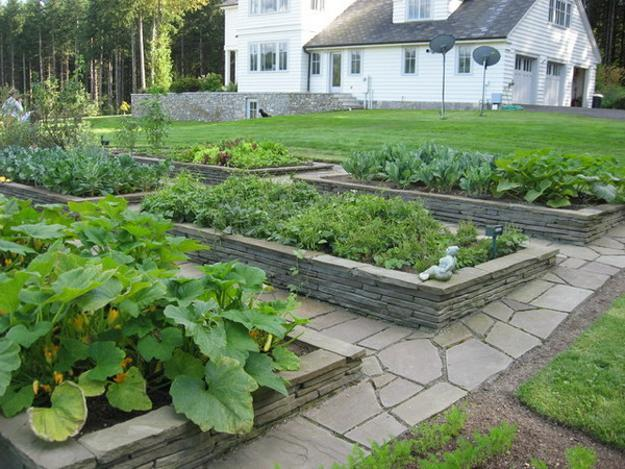 garden design ideas with stones photo - 10