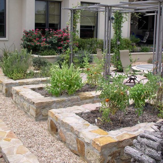 garden design ideas with stones photo - 2