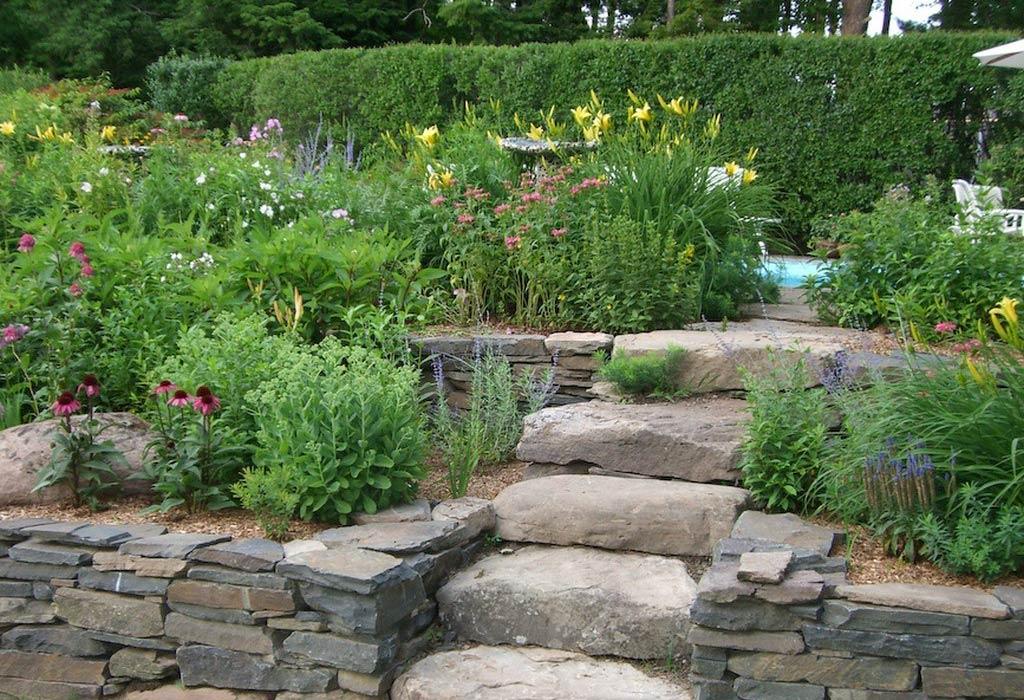 garden design ideas with stones photo - 5