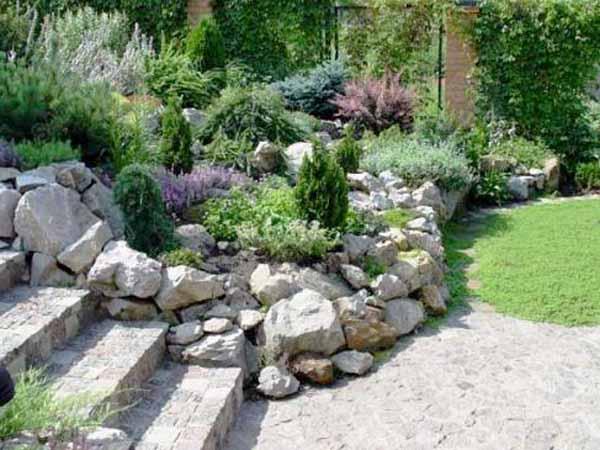 garden design ideas with stones photo - 6