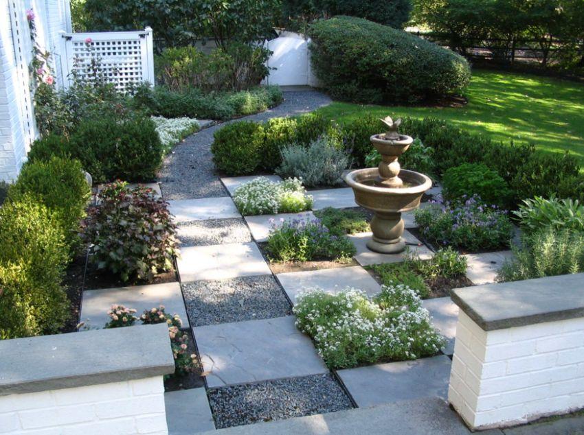 garden design ideas with stones photo - 8
