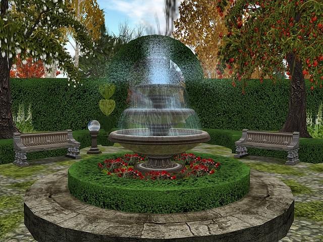 Garden Fountain Design Ideas Photo   1