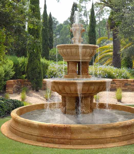 garden fountain design ideas photo - 2