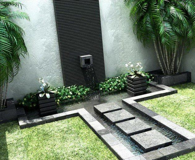garden fountain design ideas photo - 5