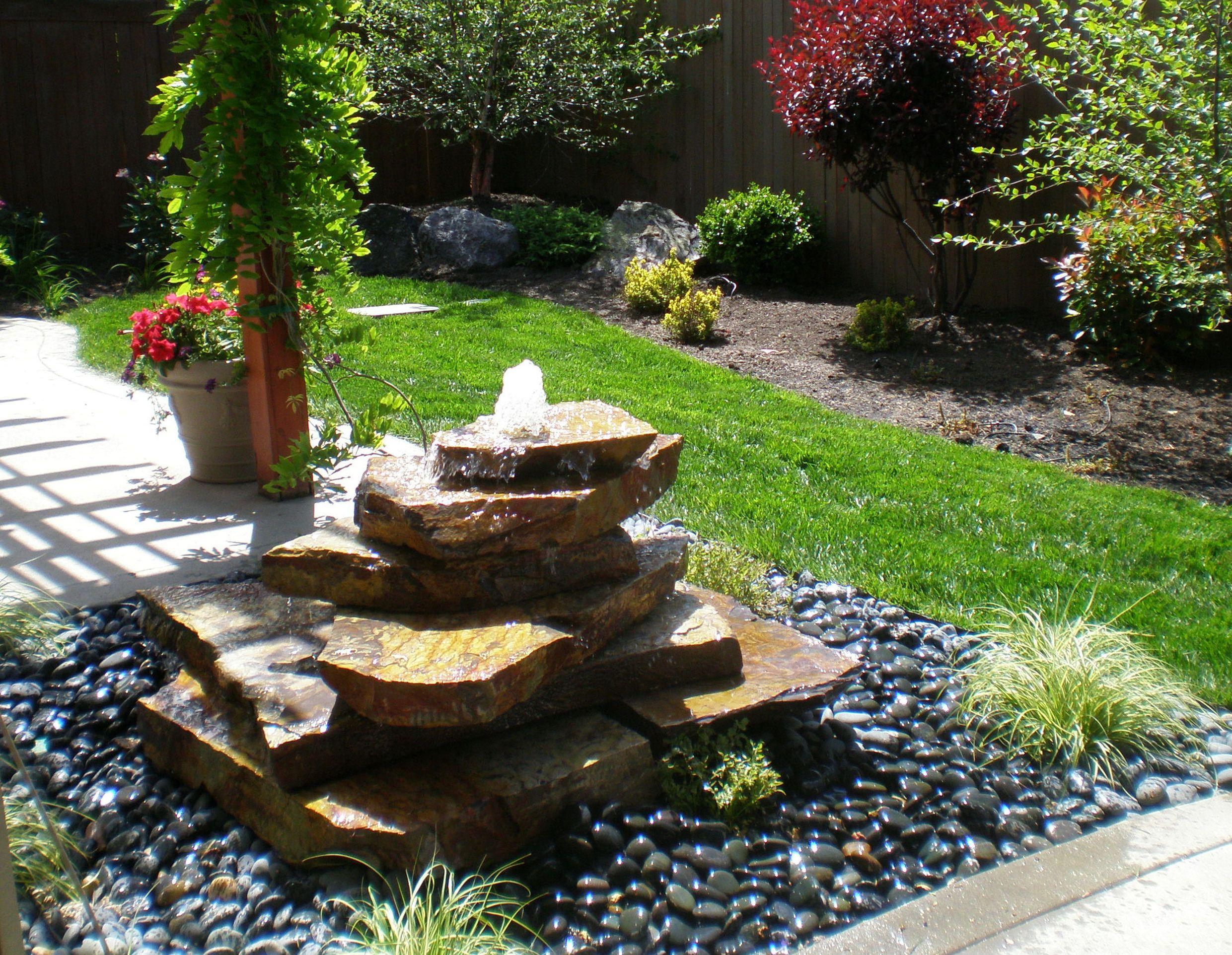 garden fountain design ideas photo - 9