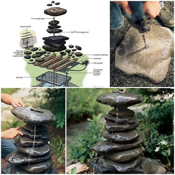 garden fountain ideas diy photo - 10