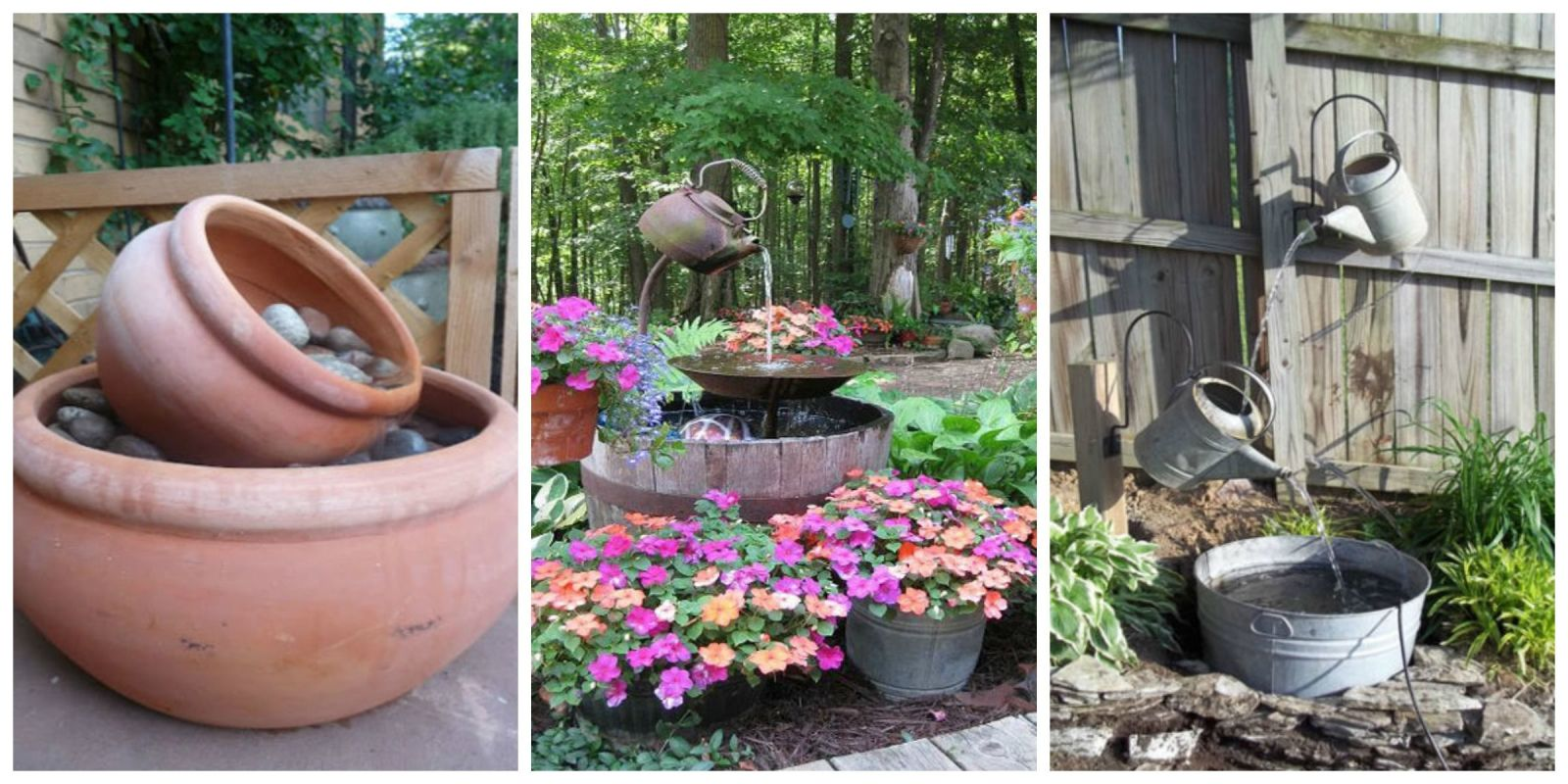garden fountain ideas diy photo - 2