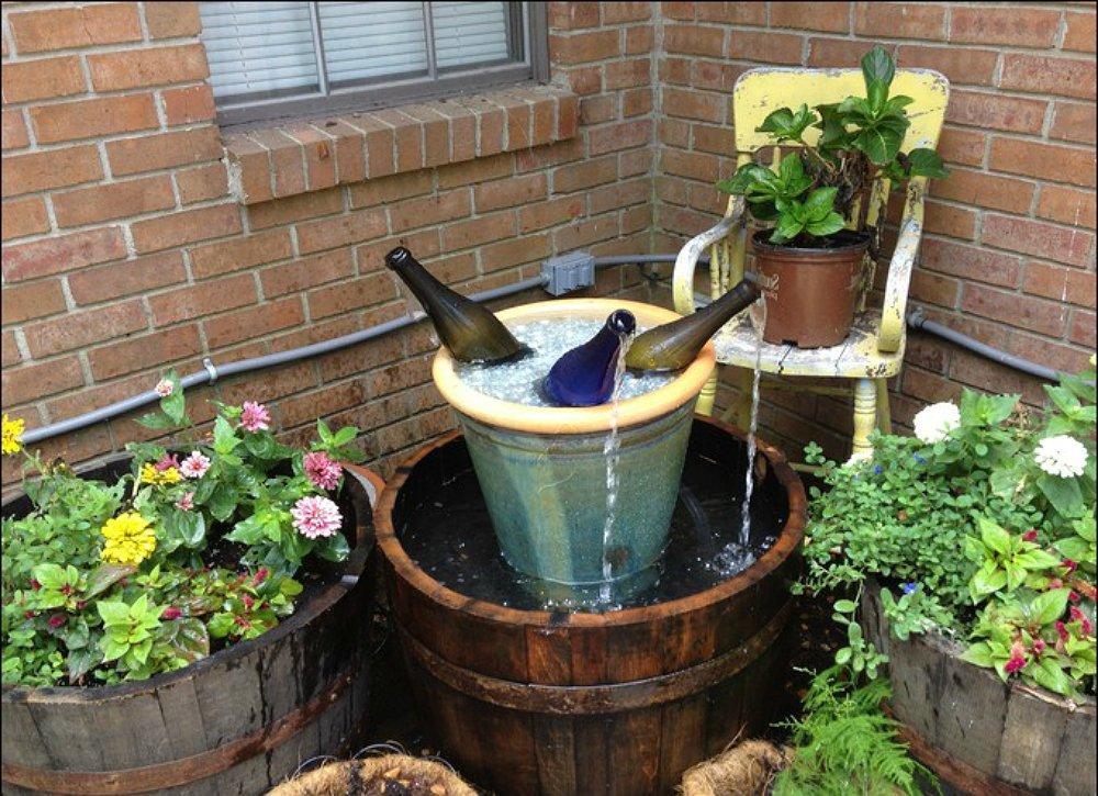 garden fountain ideas diy photo - 7