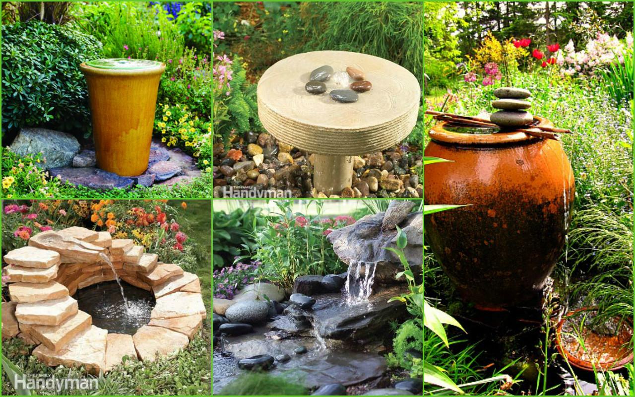 garden fountain ideas diy photo - 8