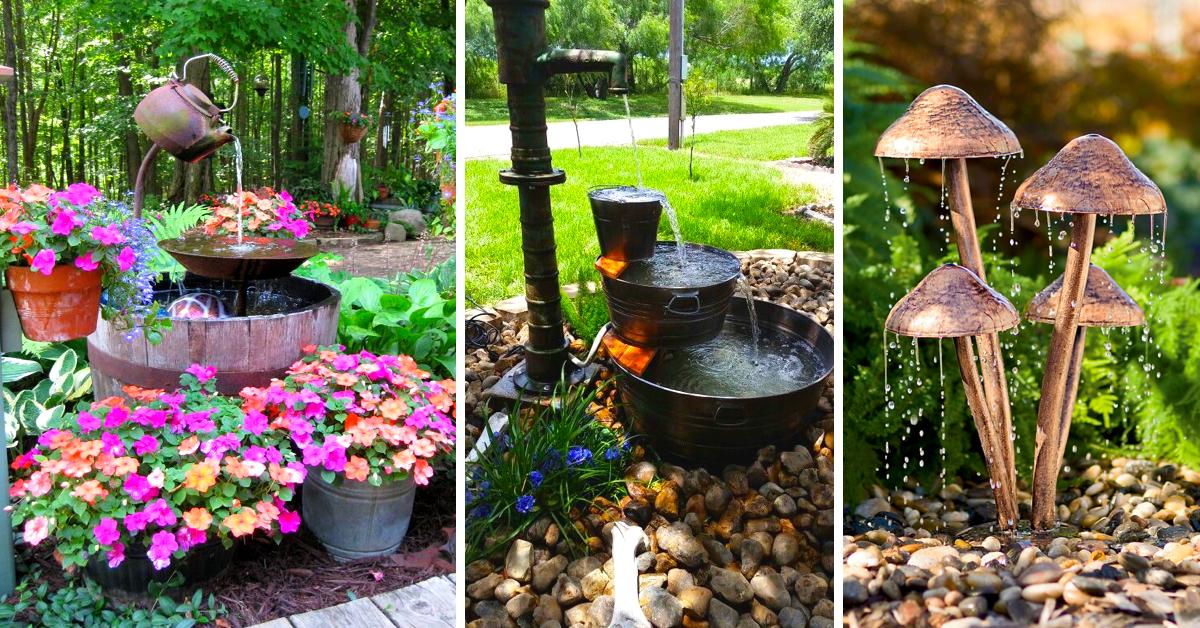 garden fountain ideas diy photo - 9