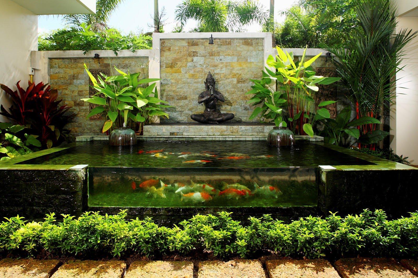 garden pond fountain ideas photo - 1