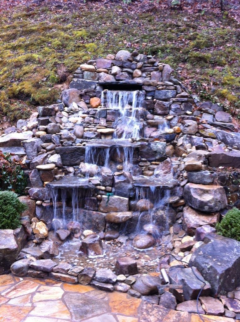 garden pond fountain ideas photo - 3