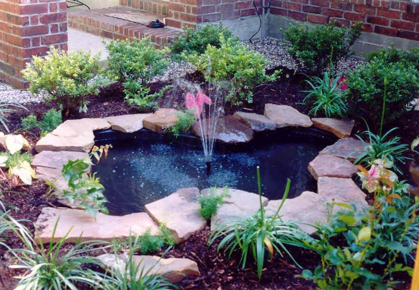 garden pond fountain ideas photo - 4