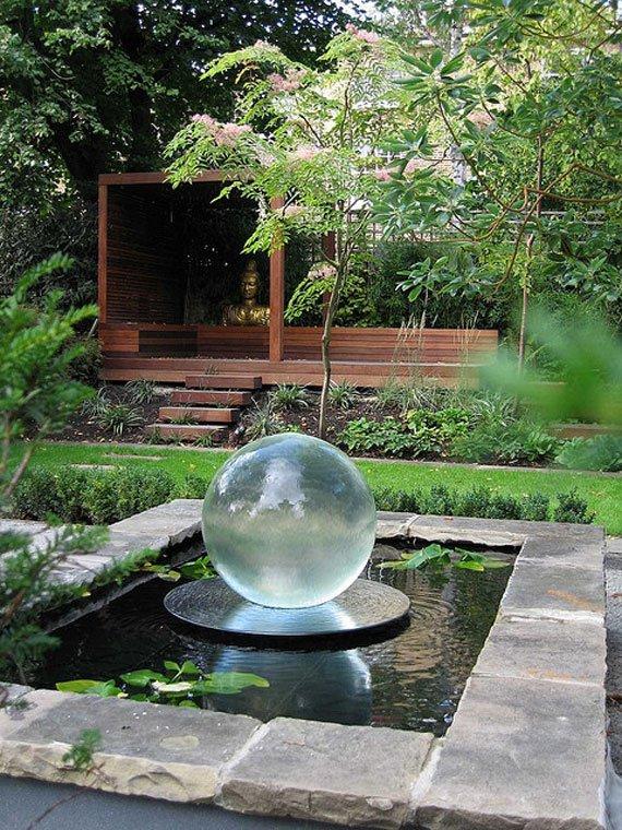 garden pond fountain ideas photo - 5