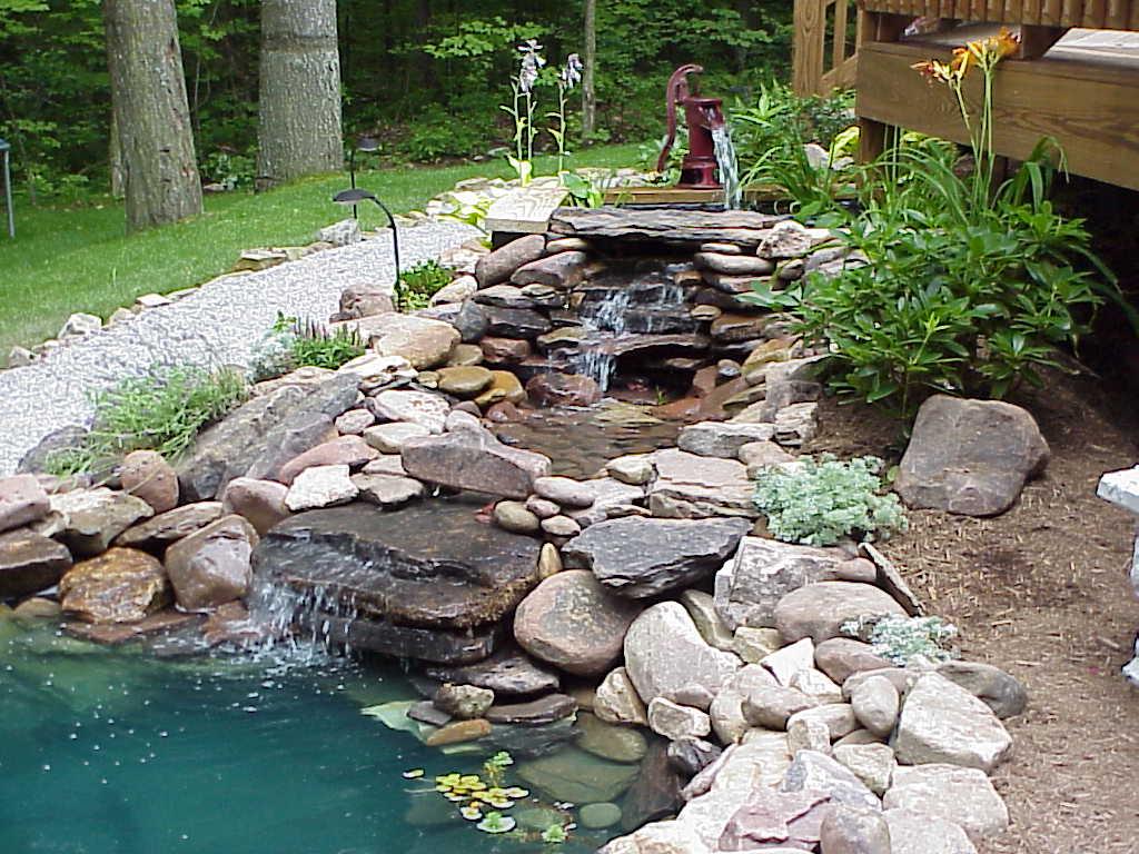 garden pond fountain ideas photo - 7