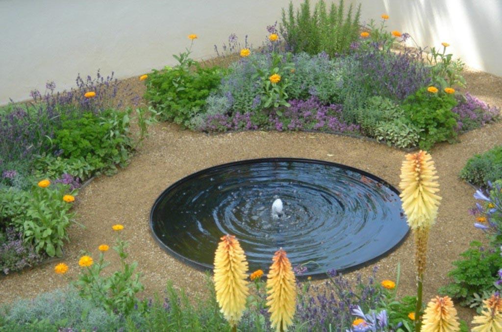 garden pond fountain ideas photo - 8