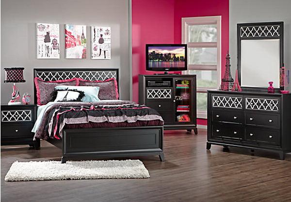 girls bedroom furniture black photo - 3