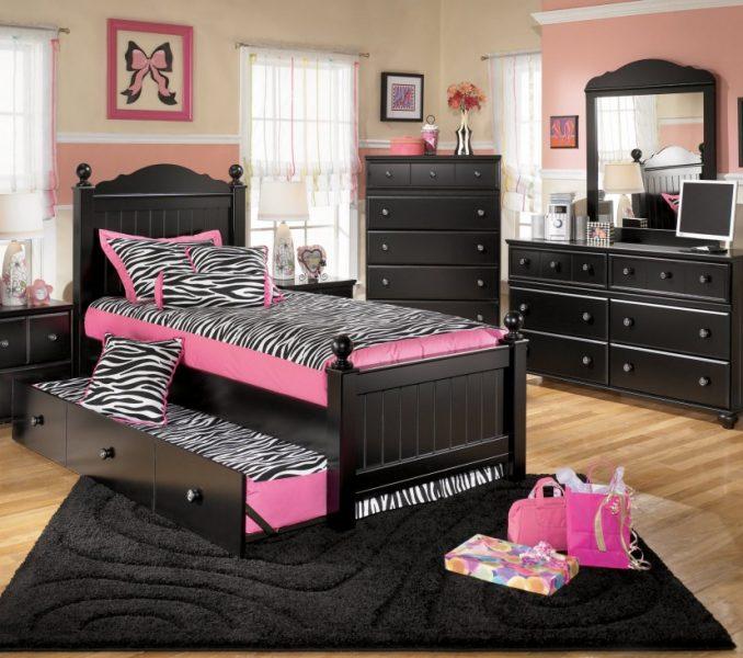 girls bedroom furniture black photo - 7