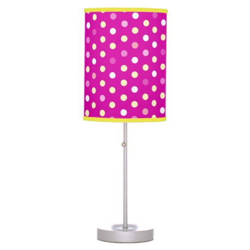 girls pink bedroom lamp photo - 1