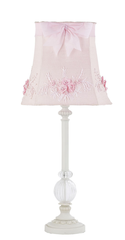 girls pink bedroom lamp photo - 3
