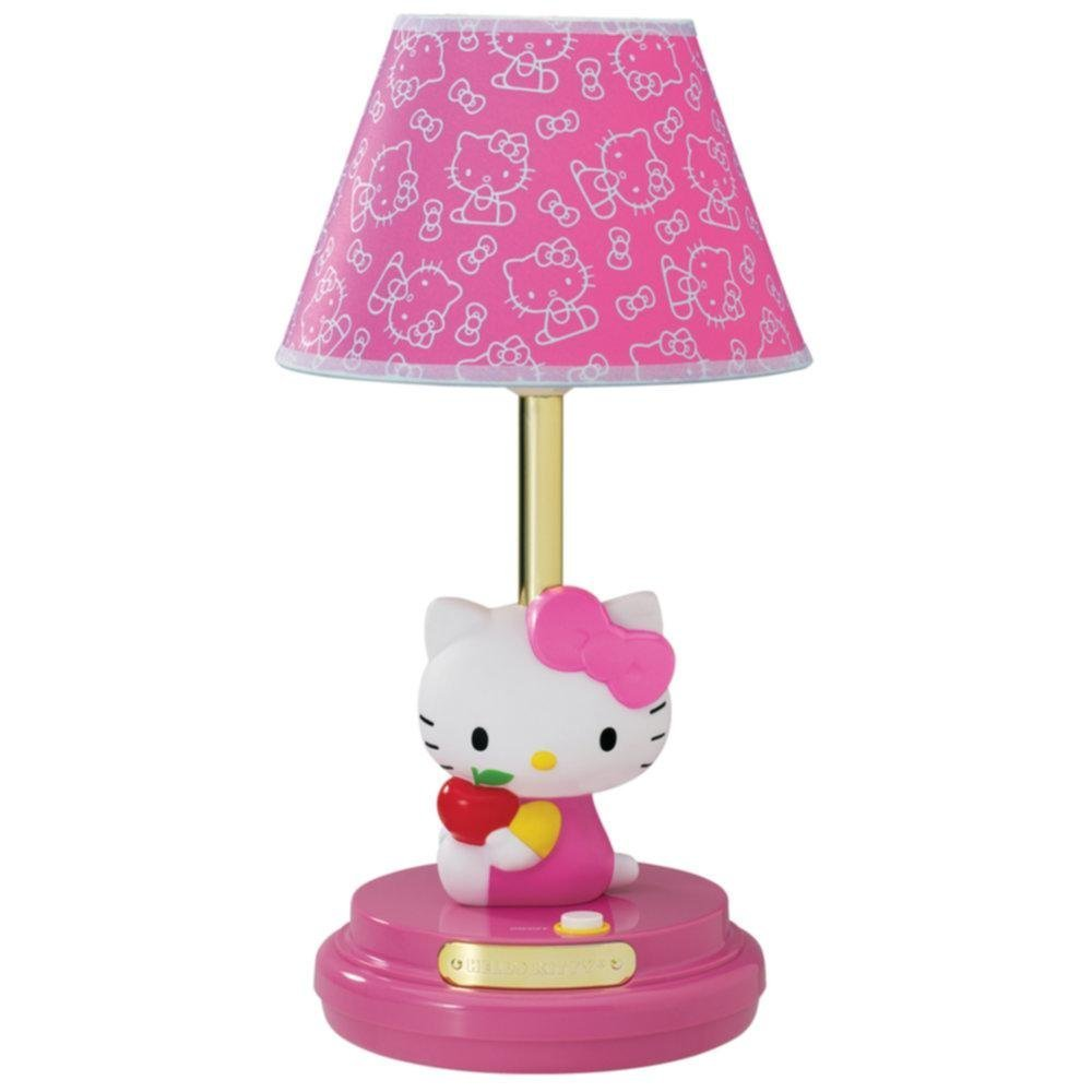 girls pink bedroom lamp photo - 5