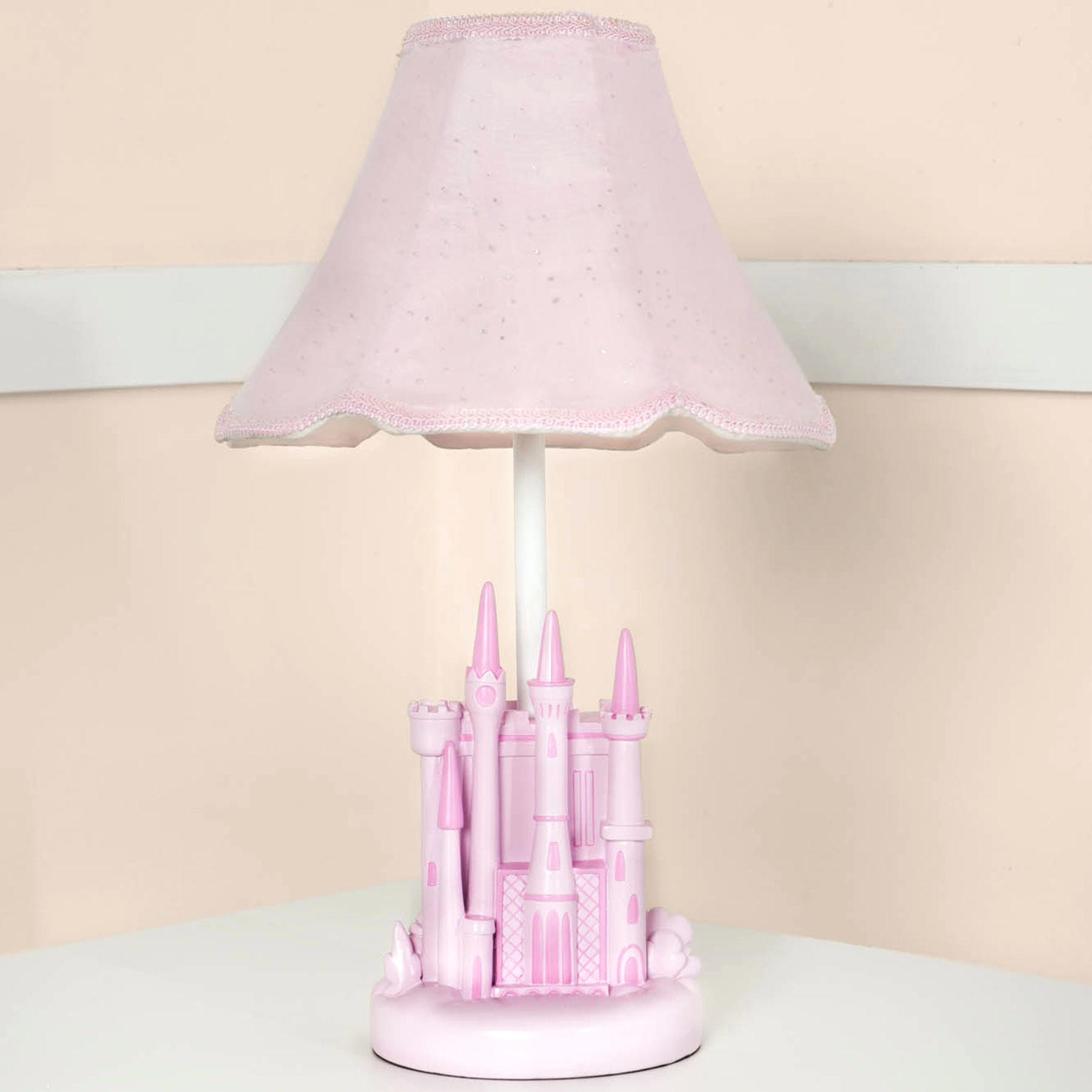 girls pink bedroom lamp photo - 9