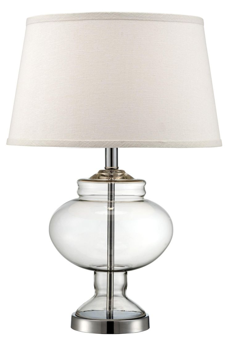 glass bedroom lamp photo - 1