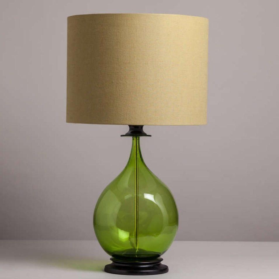glass bedroom lamp photo - 2