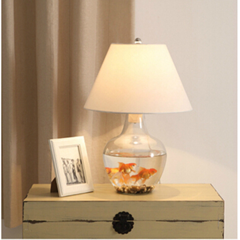 glass bedroom lamp photo - 5