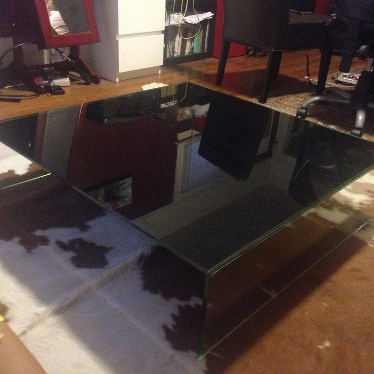 glass coffee table design within reach photo - 6