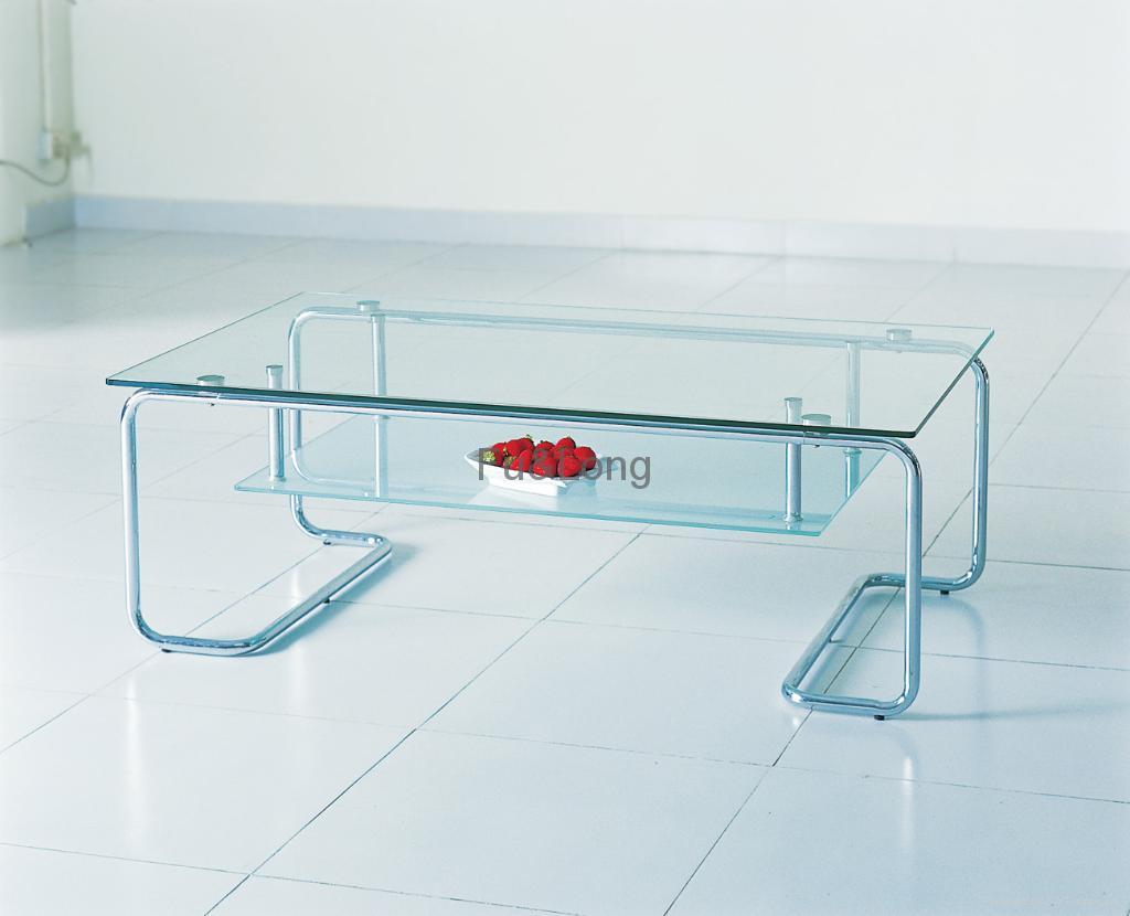 glass tea table design photo - 1