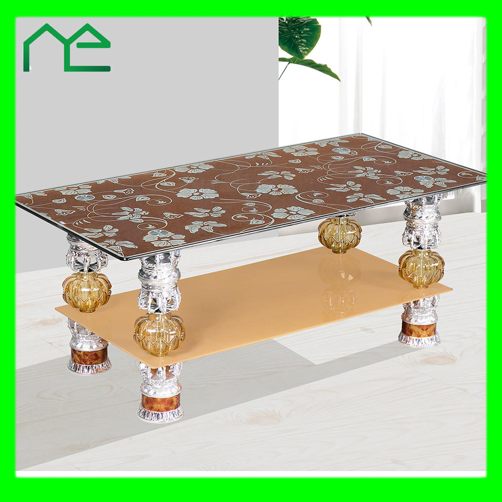 glass tea table design photo - 10