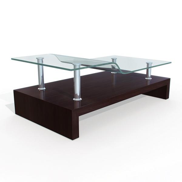 glass tea table design photo - 3