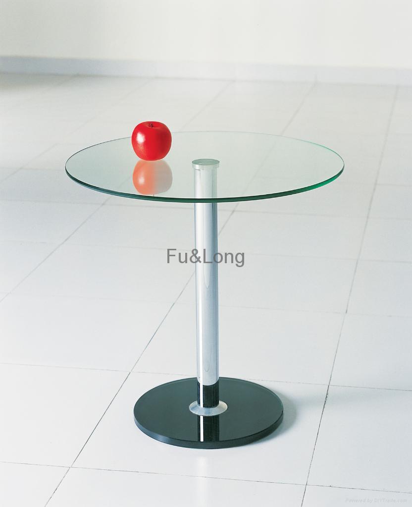 glass tea table design photo - 5