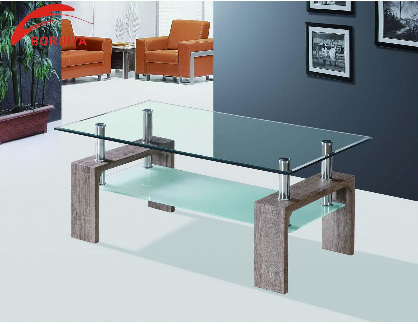 glass tea table design photo - 8