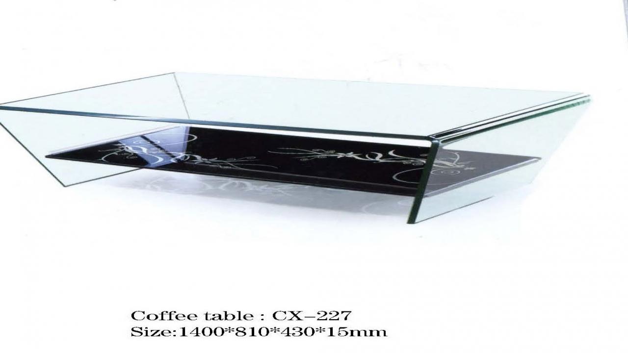 glass tea table design photo - 9