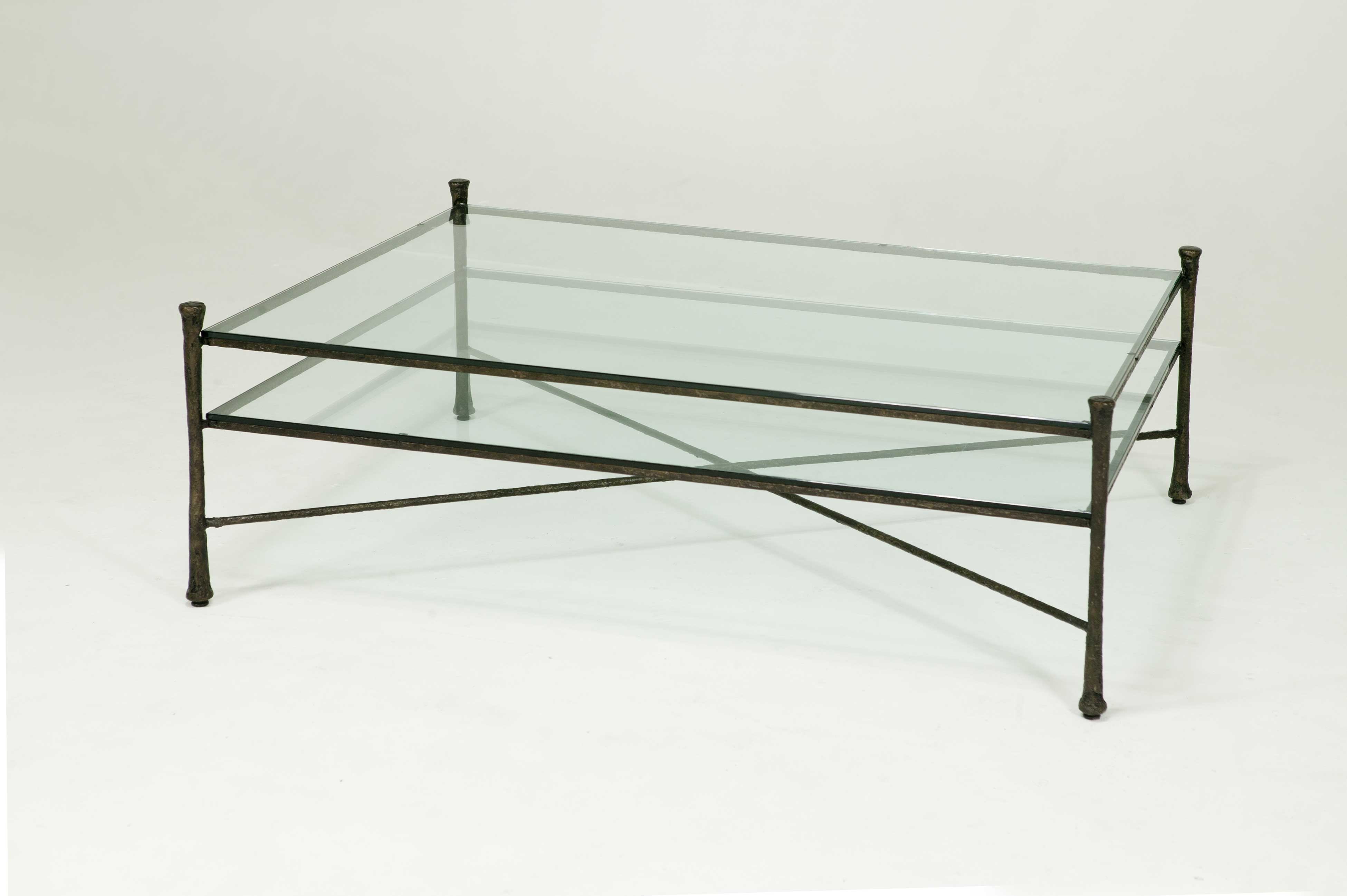 glass top coffee table design plans photo - 6
