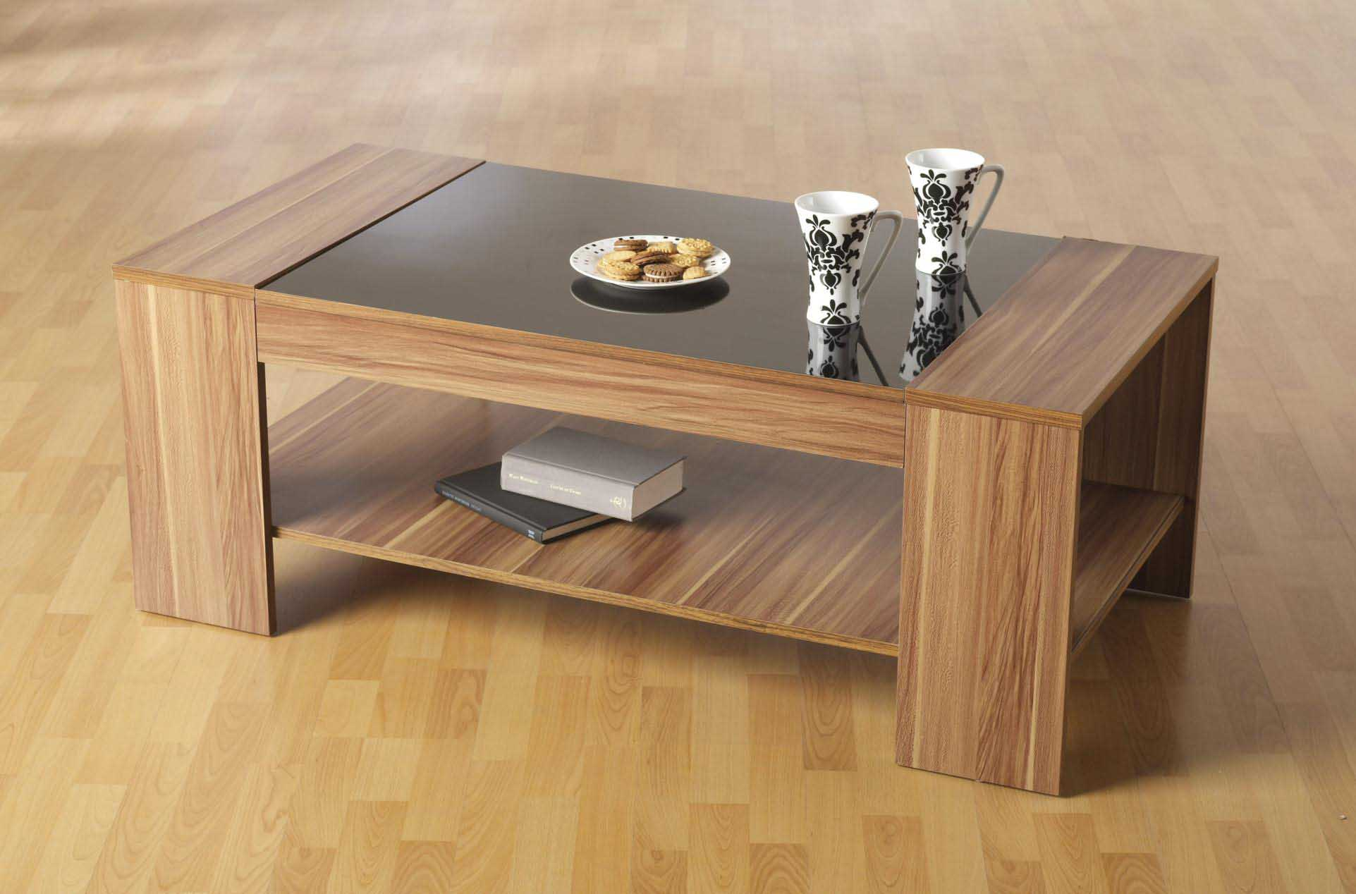 glass top coffee table design plans photo - 7