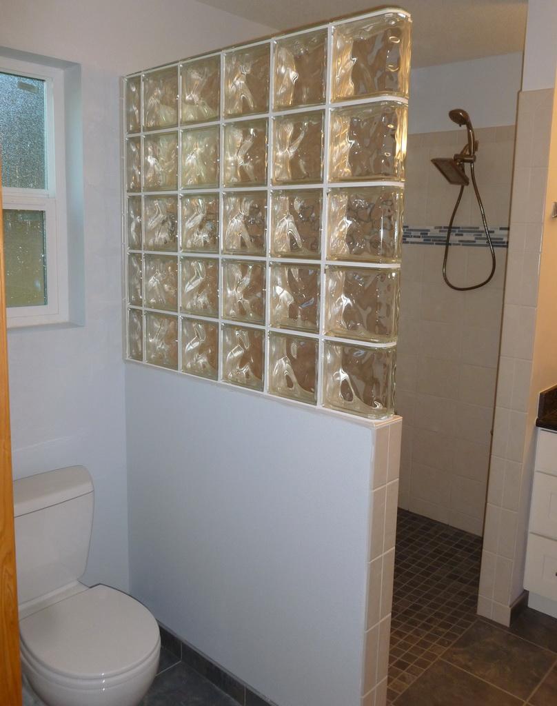 glass wall dividers bathroom photo - 7