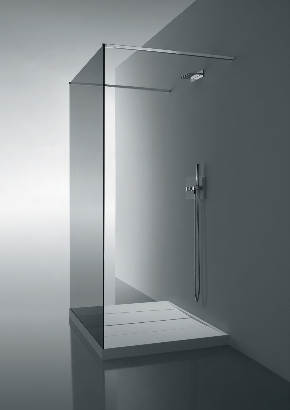 glass wall dividers bathroom photo - 8